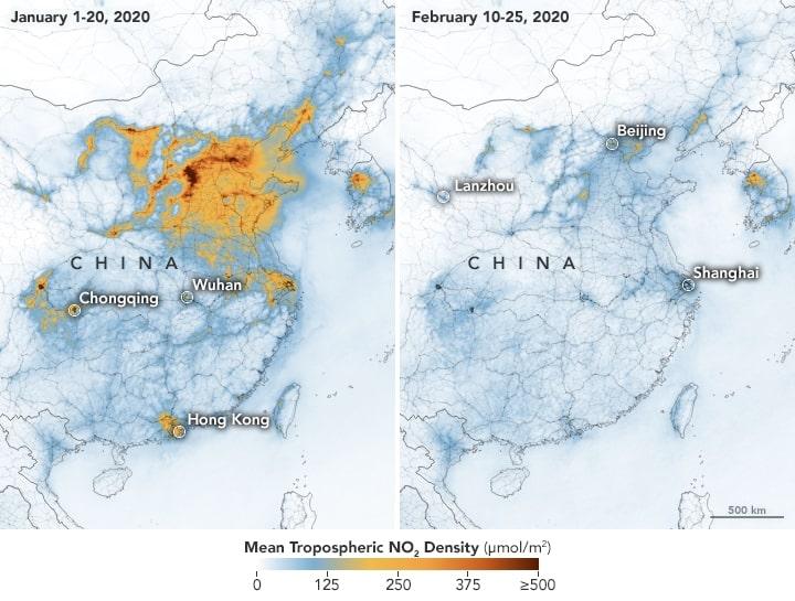 karte der umweltverschmutzung über china