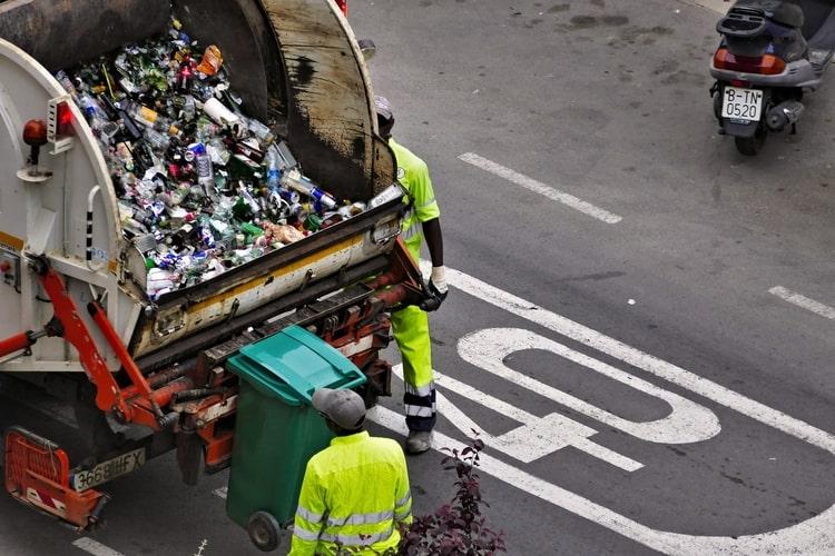 Abfallsammlung in Spanien