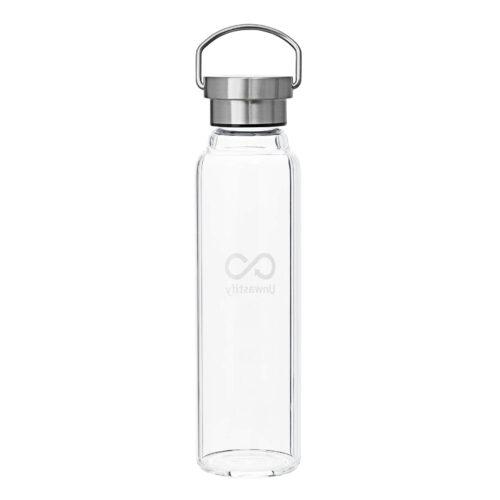 Unwastify 750 ml glasflasche rückseite