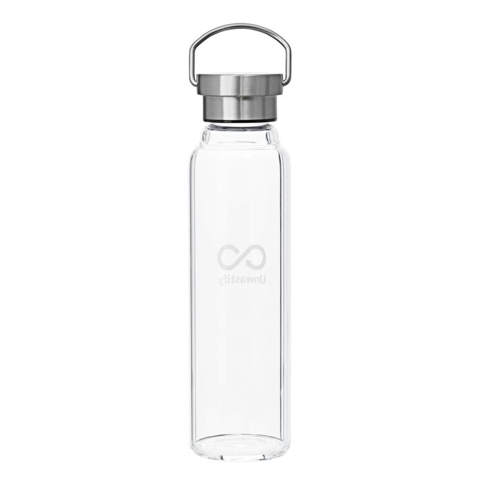 Unwastify 750 ml glass bottle backside