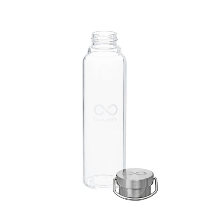 Unwastify 750 ml glass bottle and bottle cap
